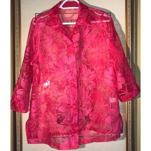Tops - 🌺HOT PINK LARGE BLOUSE🌺